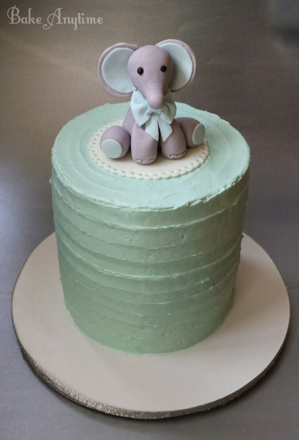 Elephant Baby Boy Cake Bake Anytime
